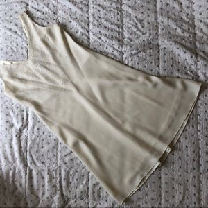 Jones New York ivory a line shift dress Euc 8